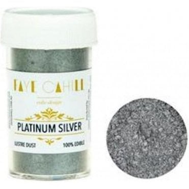 Platinum Silver - 22ml Luxury Edible Lustre Dust Food Icing Colour