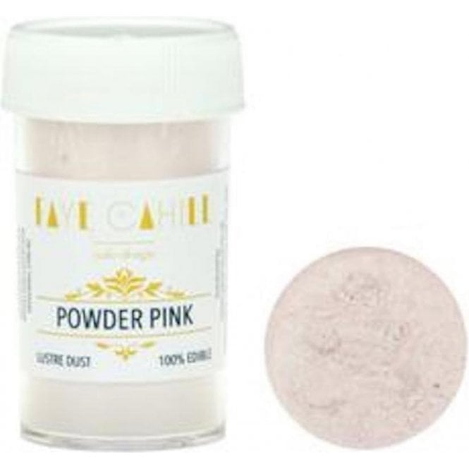 Faye Cahill Powder Pink - 22ml Luxury Edible Lustre Dust Food Icing Colour