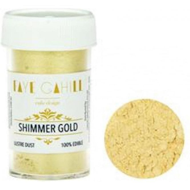 Faye Cahill Shimmer Gold - 22ml Luxury Edible Lustre Dust Food Icing Colour