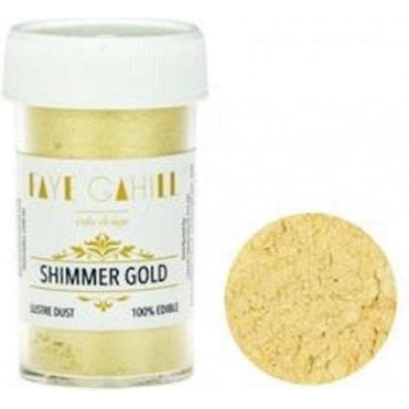 Shimmer Gold - 22ml Luxury Edible Lustre Dust Food Icing Colour