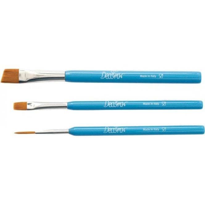 Decora Food Gradable Cake Decorating Paint Brushes - Full set of 3