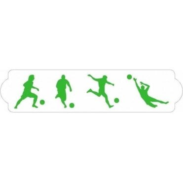 Football Players - Cake Decorating Stencil 7 x 30cm