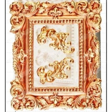 11cm x 8.5cm Large Vintage Picture Frame - Cake Decorating Silicone Mould