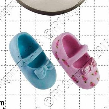 Baby Shoes & Bow - Cake Decorating Silicone Mould