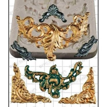 Baroque Scrolls - Cake Decorating Silicone Mould