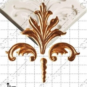 Damask Scrolls - Cake Decorating Silicone Mould