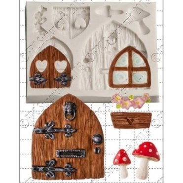 Fairy Door & Window - Cake Decorating Silicone Mould