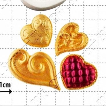 Fancy Hearts - Cake Decorating Silicone Mould