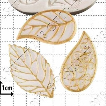 Filigree Leaves - Cake Decorating Silicone Mould