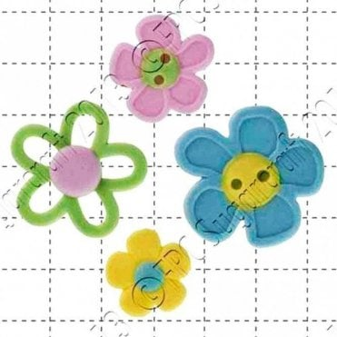 Flower Buttons - Cake Decorating Silicone Mould
