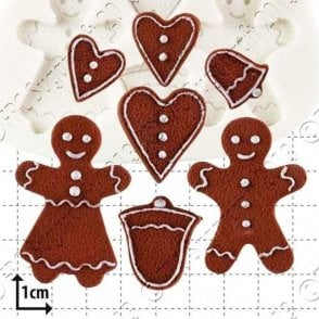 Gingerbread People - Cake Decorating Silicone Mould