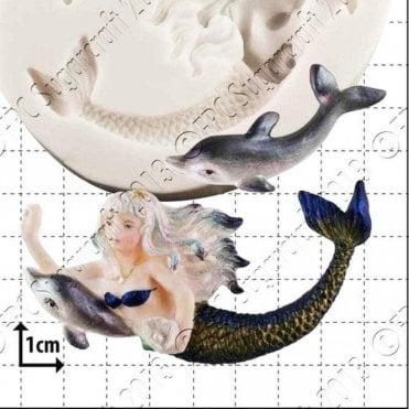 Mermaid & Dolphin - Cake Decorating Silicone Mould