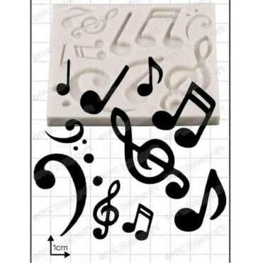 Musical Notes - Cake Decorating Silicone Mould