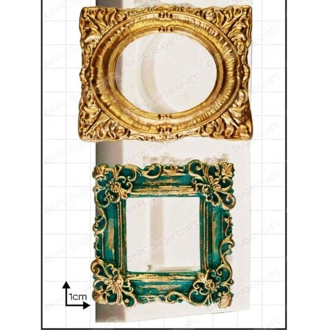 Ornate Picture Frame Cake Decorating Silicone Mould by FPC Moulds