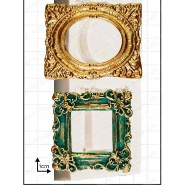 Ornate Picture Frame - Cake Decorating Silicone Mould