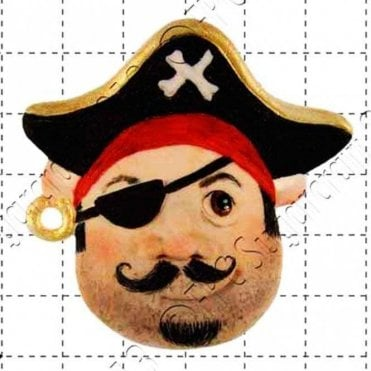 Pirate Face - Cake Decorating Silicone Mould