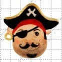 FPC Moulds Pirate Face - Cake Decorating Silicone Mould