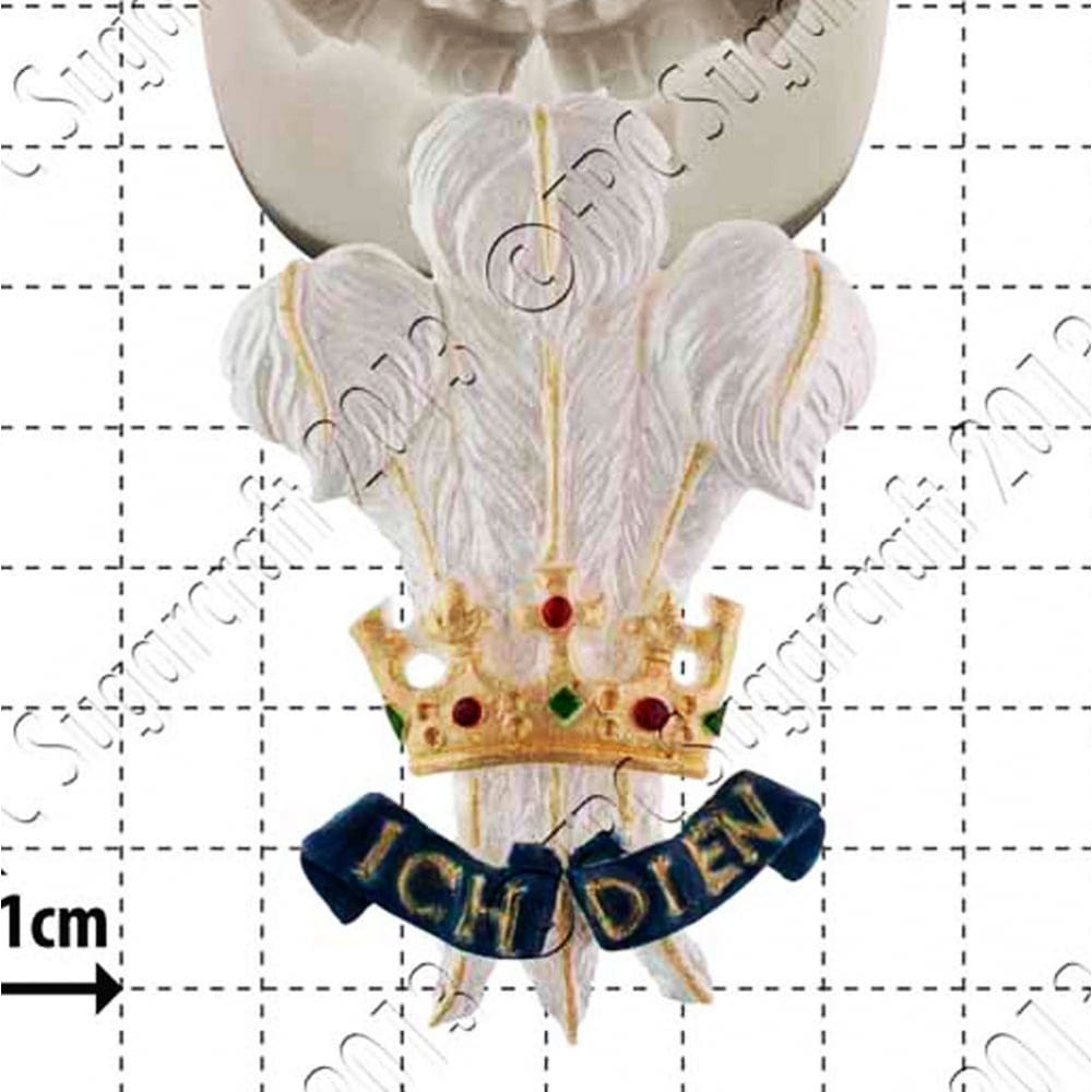 Prince of Wales Feathers - Cake Decorating Silicone Mould