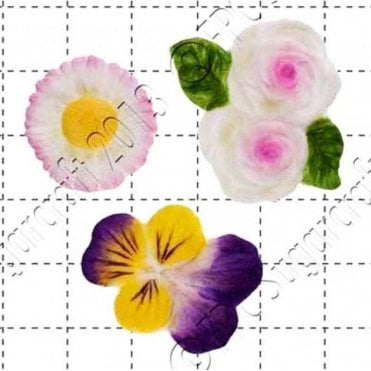 Roses, Viola & Daisy - Cake Decorating Silicone Mould