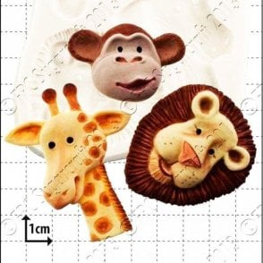 Safari Animals - Cake Decorating Silicone Mould