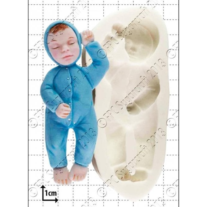 FPC Moulds Sleeping Baby - Cake Decorating Silicone Mould