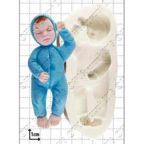 Sleeping Baby - Cake Decorating Silicone Mould