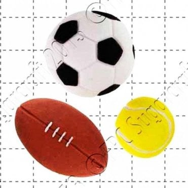 Sport Balls - Cake Decorating Silicone Mould