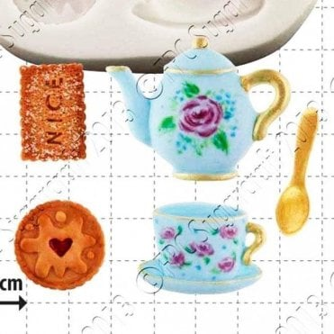 Tea & Biscuits - Cake Decorating Silicone Mould
