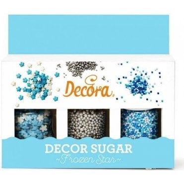 Frozen Stars Sugar Decoration Set 78g