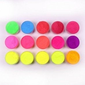 FULL SET of 15 - Rolkem Neon/Lumo/Luminosity 'Glow in the Dark' Edible Dusting Food Colours - Choose Your Sizes