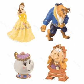 FULL SET OF ALL CHARACTERS, Beauty and the Beast Toppers