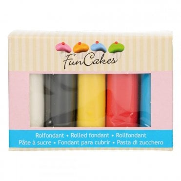 Funcakes Fondant Multipack Primary Colours 5x100g