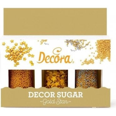 Gold Stars 'Decorsugar' Edible Sprinkle Decoration Set