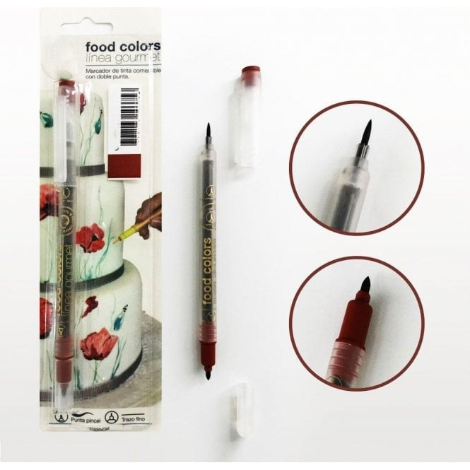 Gourmet Food Pens Brown - Edible Double-Tip Food Decorating Pen