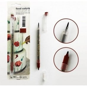 Brown - Edible Double-Tip Food Decorating Pen