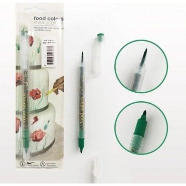 English Green - Edible Double-Tip Food Decorating Pen