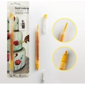Golden Yellow - Edible Double-Tip Food Decorating Pen