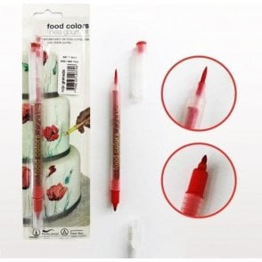 Red - Edible Double-Tip Food Decorating Pen