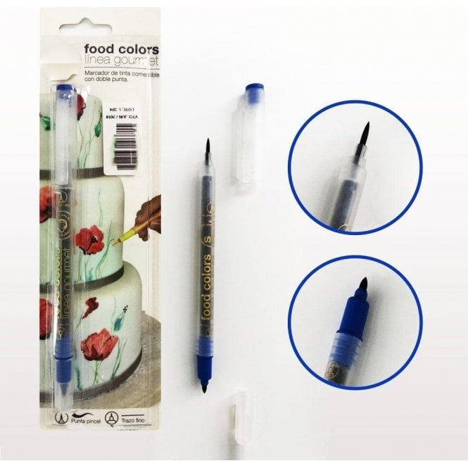 Gourmet Food Pens Sapphire Blue - Edible Double-Tip Food Decorating Pen