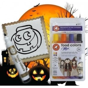 Shades of Halloween - Edible Food Colouring Marker Pen Felt Tip Set of 4
