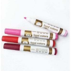 Shades of Pink - Edible Food Colouring Marker Pen Felt Tip Set of 4
