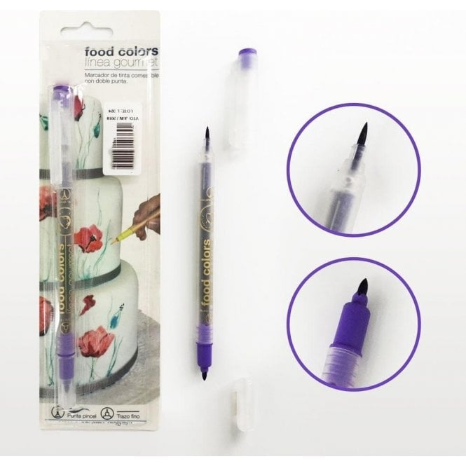 Gourmet Food Pens Violet - Edible Double-Tip Food Decorating Pen
