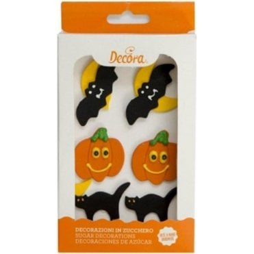 Halloween Sugar Royal Icing Edible Decorations - 8 Count
