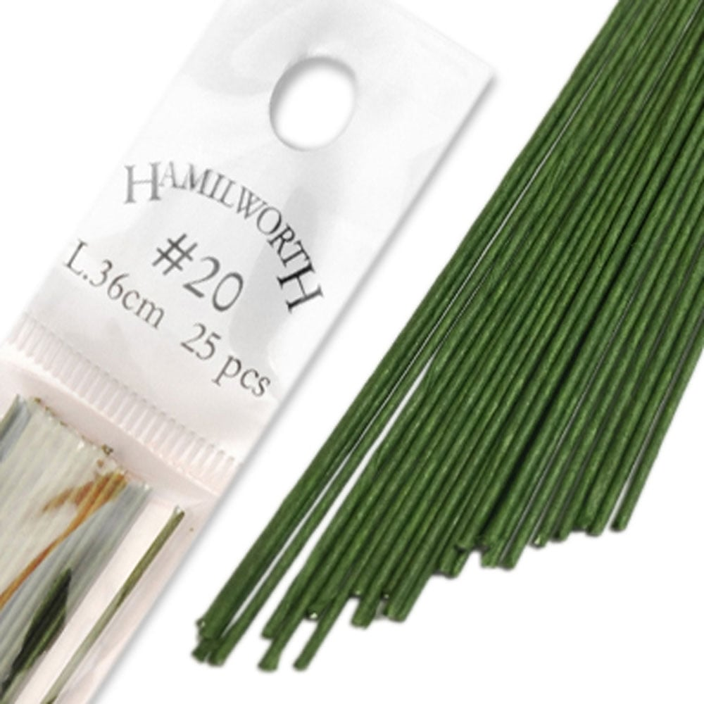 Dark Green - Sugar Florist & Cake Decorating Florist Wire - 50 count