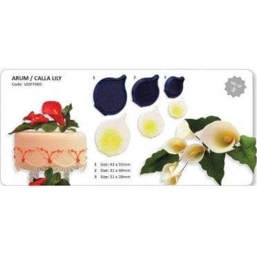 Cala Lilly/Arum Icing Cutter - Set of 3