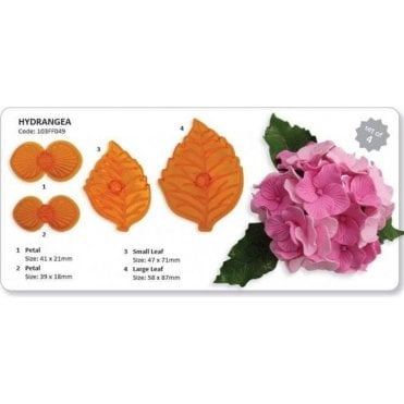 Hydrangea Flower Icing Cutter - Set of 4