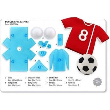 Sport Shirt and Ball Icing Cutter - Set of 8