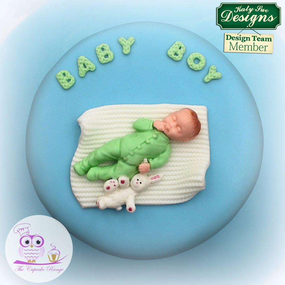 Cake Decorating Baby Mould : Baby Blue - Cake Decorating Silicone Mould by Katy Sue Designs