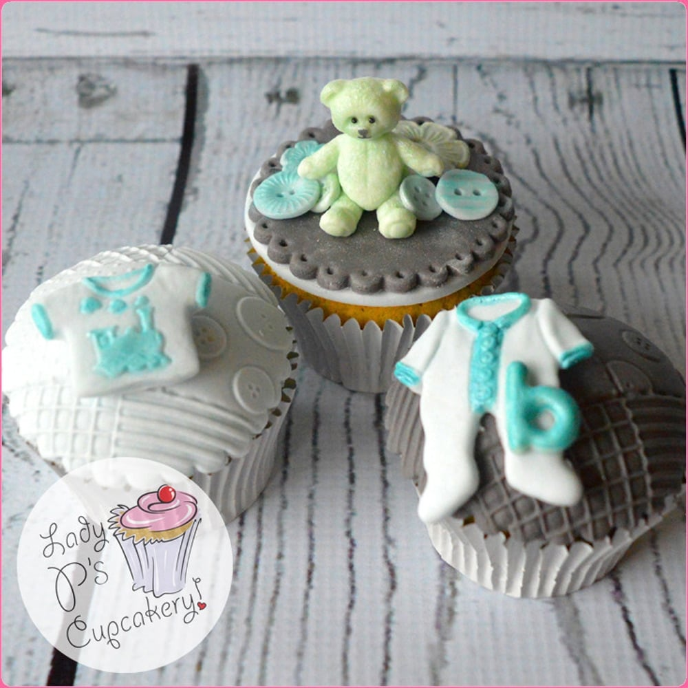 Cake Decorating Questions : Baby Clothes Washing Line - Cake Decorating Silicone Mould ...