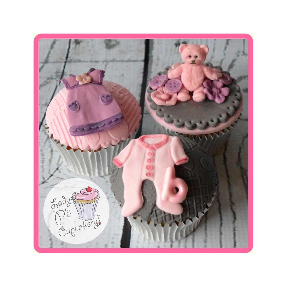 Baby Clothes Washing Line Cake Decorating Silicone Mould
